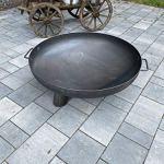 Czaja Stanzteile Brasero Coburg – Foyer pour extérieur, terrasse et jardin – Diamètre : 80 cm sans trou d'évacuation de l'eau)