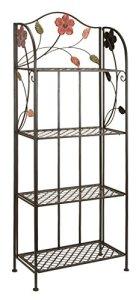 Deco 7963065lumière décorative en métal Bakers Rack, 25par 172,7cm