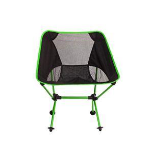 Décoration d'intérieur Chaise de Plage Pêche pâturage Camping Chaise Pliante ultralerie Meubles d'extérieur 7075 Al Oxford Tissu Max 150kg Modern Moon Chair (Color : Light Green)