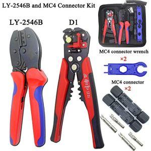 Delights CNLX LY-2546B MC4 Pince à Fil photovoltaïque Capacité 2,5/4/6 mm2 14-10 AWG Kit de connecteurs solaires D1