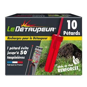Detaupeur RECHARG10 Recharges X10 pour Pieges Anti Taupes et Rats Taupiers | Utilisables sous la Pluie | Armement en Toute Sécurité, Système Exclusif