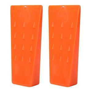 Fdit 2 pièces Cales d'abattage en Plastique Cales de Coupe d'arbre Portables Fournitures de journalisation Accessoires de scie à chaîne (Orange)