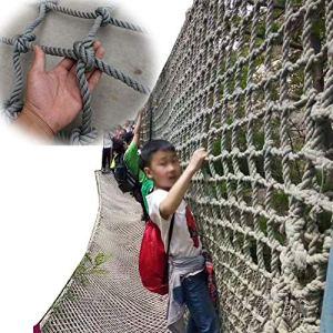 Filet Décoratif ,Solide Antidérapant Filet D'escalade Anti-chute Polyvalent Filet De Remorque Pour Balustrade De Balcon Escaliers Terrain De Jeux ( Color : Gray-15mm-12cm , Size : 4x7m )