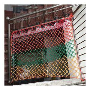 Filets De Sécurité Balcon D'escalier Filet Anti-chute Solide Et Résistant À L'usure Anti-âge Plafond Décoration Peut Être Enroulé , Personnalisable ( Color : Multi-colored-10mm , Size : 6x7m )