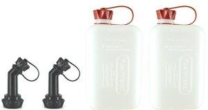 FuelFriend®-BIG Clear Max. 2,0 litres + Bec verseur verrouillable – Jerrican avec Certification Un – 2 pièces pour Un Prix spécial