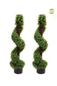 Greenbrokers Limited Coffret asbt-5307–0335x 25x 94cm buis Spirale avec Tige en Bois Naturel (Lot de 2)–(2)
