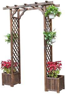 HLZY Mobilier de Jardin Arc Décoration Haute Qualité tonnelles en Bois, décoration de Jardin en Plein air, Jardin Arbor for Divers Plantes d'escalade