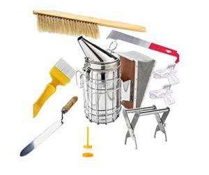 HunterBee Kit d'outils d'apiculture – 8 pièces – Fumeur de ruche, accessoire d'apiculture – Outil d'apiculture