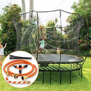 Hydrogarden Trampoline Sprinkler Trampoline Spray Water Park Accessoires de Trampoline d'eau en Plein air d'été, Eau rotative Automatique à 360 degrés, Ensemble Complet de système d'arrosage