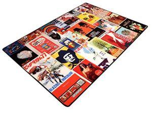 KTYXGKL Rectangle Classique Vintage Nylon Chambre Motif Salon Tapis Tapis (Size : 120 * 180cm)