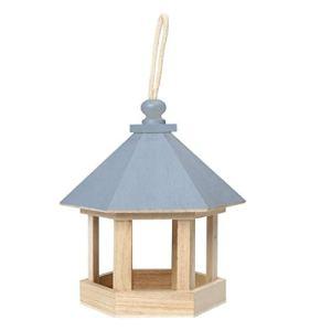 LIANGLEY Mangeoire À Oiseaux Distributeur De Nourriture pour Oiseaux Sauvages dans La Maison en Bois Exterieur Suspendue Mangeoires pour La Décoration Extérieure du Jardin,La Cour (Color : A)