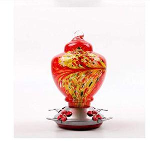 LIANGLEY Mangeoire à Oiseaux en Verre Peint Idée Cadeau Parfaite pour Les Artisans Amateurs (Color : D)