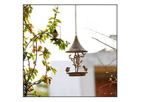 LIANGLEY Mangeoire Maison Oiseaux Suspendue Exterieur en Fonte,pour La Décoration De Jardin, Chasse Aux Oiseaux dans La Nature