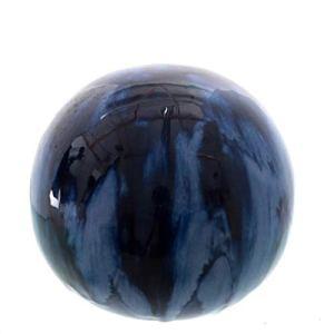 linoows Boule de jardin XXL en céramique avec dégradé bleu – 24 cm