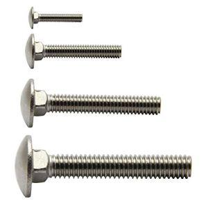 Lot de 25 vis de serrure pliables M5 à M12 DIN 603 en acier inoxydable A2