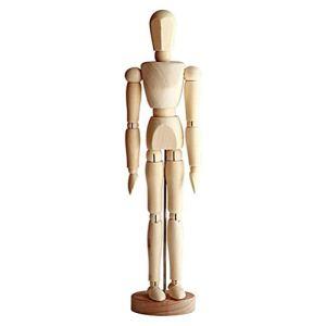 Mannequin de Dessin, Mannequin Humain en Bois pour Le Dessin et la Peinture, Mannequin Artistique de 13 cm 4,5 Pouces avec Base et articulations Flexibles Croquis d'artiste Modèle de Dessin Art Doll