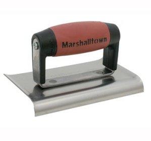 Marshalltown M136D Fer à bordure en ciment 15,2 x 7,6 cm Manche Durasoft incurvé fr