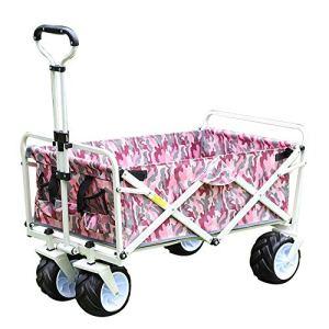 NEHARO Chariot Pliant Wagon Pliable Pliant Wagon Utilitaire Camping en Plein air Plage Panier avec Universal Wheels et réglable Chariots de Jardin Wagons (Color : As Shown, Size : 100x50x75cm)