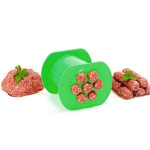 One Press Cevapcici Maker – 7 saucisses en une seule pression – Moules antiadhésifs pour barbecue de cuisine pour griller pour faire facilement de délicieuses saucisses farcies (green)
