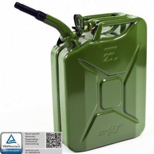 Oxid7 Bidon pour carburant en métal avec bec verseur flexible 20l
