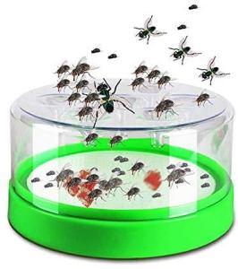 Piège à Mouches, Attrape-Mouches Automatique avec appât pour Un contrôle Efficace des Insectes Volants, Mouche des Fruits, moucheron pour Attraper Les Mouches Attrape-Mouches Inclus (Vert)