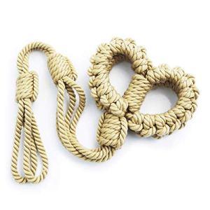 RianGor Corde de Chanvre tressée à Longue chaîne pour la Fixation des Mains et des Pieds (Kaki)