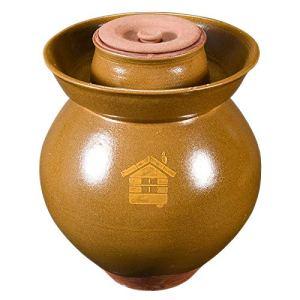 RTDotey Pot d'argile, Terre en Terre Cuite Rhum Schmalztopf Faïenware Miel Brown,Marron,15