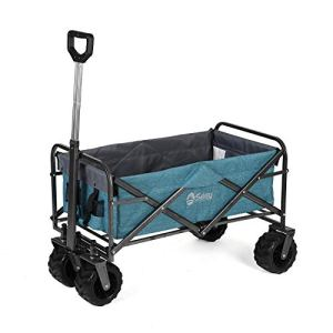 Sekey Chariot de Jardin Pliable Chariot de Transport Charrette Pliable Charrette à Main Pliant, Bleu