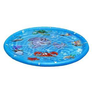 Sprinkler Tapis gonflable Vaporiser d'été de l'eau Tapis d'enfants Round Outdoor Tools Splash Game Pad Jardin