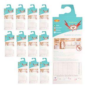 Stingmon 12 pièces piège à Mites vêtements piège à Mites piège sans Insecticide Protection Anti-Mites de première Classe pour la Garde-Robe