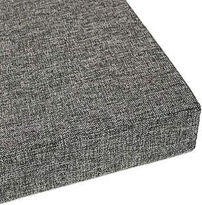 sunshinelh Coussin de banc long avec attache, coussin rectangulaire pour banc de jardin ou patio pour chaise 2/3/4 places, amovible et lavable (B,35 x 160 x 5 cm)