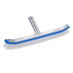 Taloit Tête de brosse de piscine 45,7 cm en aluminium solide pour nettoyer les murs, carrelages, sols