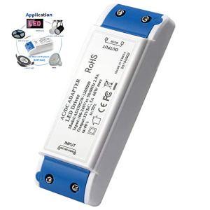 Transformateur LED, alimentation LED 60W Adaptateur de pilote LED 12V DC 5A – Tension constante pour lampes LED, lampes d'armoire, écran LED et ampoules LED G4, MR11, MR16 (Driver LED)