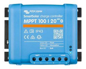 Victron Energy SmartSolar MPPT Contrôleur de Charge 100/20-48 12V 24V 48V 20A Contrôleur de Charge Solaire Bluetooth Intégré SCC110020160R