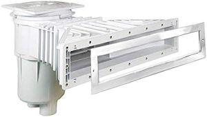 well2wellness® Slim-Line Pool Skimmer ABS 17,5 L Skimmer en Plastique pour piscines Liner + Couvercle de Haute qualité en Acier Inoxydable V4A