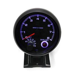 WINOMO Tachymètre de voiture – 3,75 pouces – Turbo Boost – Alarme – Lumière blanche – Universel