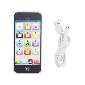 WLH Jouet De Téléphone Mobile d'apprentissage Rechargeable pour Jouets Intelligents d'enfant Enfant (Noir)