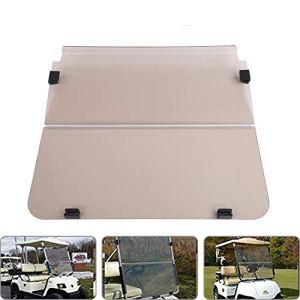 WLH Pare-Brise Acrylique 2 Couleurs pour Chariot De Golf Yamaha G22 2003-2006 S (Couleur Thé)