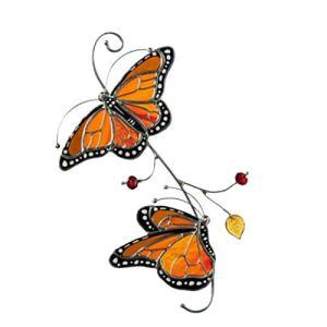 YEES Art Mural Papillon en Métal 3D Cintre Mural Papillon Monarque Décorations Suspendues avec Crochet Artisanat Papillon Vintage pour La Décoration De Jardin À La Maison Appealing