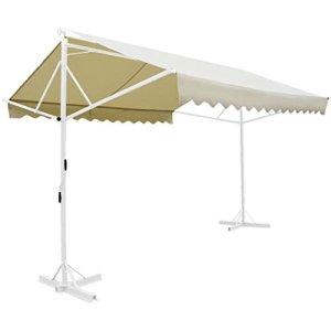 Zora Walter Store de terrasse sur Pied Crème 3 x 3 m
