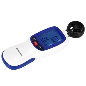 01 Anémomètre numérique, anémomètre de Conception à Bouton Simple, pour mesurer la Vitesse du Vent et la température