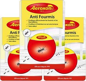 Aeroxon – Appât pour Fourmis – 3 Paquets – Combat Le nid de Fourmis Entier