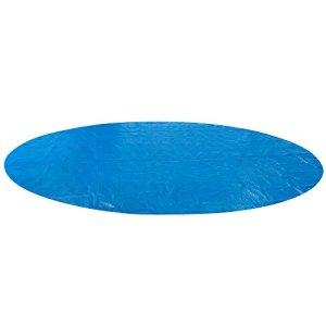 AREBOS Couverture Solaire à Bulles pour Piscine | Ronde | Bleu | 3,6 m | 400 µ/microns | Polyethylen