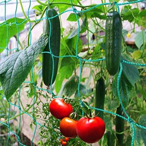 AUX Filet à Plantes grimpantes de qualité supérieure 5 x 2 m avec Grande Largeur de Maille pour Plantes grimpantes récolte de concombres tomates et Plantes grimpantes tuteur Jardin et Serre