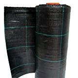 Bâche de Paillage Noir Vichy Vert en polypropylène indéchirable Rouleau 100x 3,30m