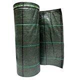 Bâche de Paillage Vert vichy vert en polypropylène indéchirable Rouleau 100x 4,20m