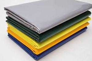 Bâche de protection en PVC pour camion – 600 g/m² – Vendu au mètre sans œillets – Vert, bleu, jaune, gris – Bâche de protection industrielle (anthracite RAL7016)