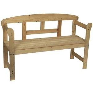 Banc en bois pour les jardins ou les parcs