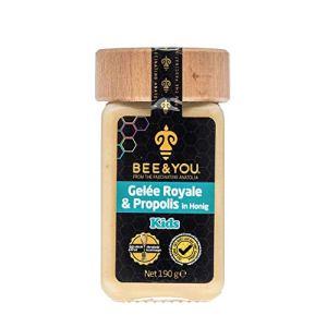 Bee & You Gelée Royale et Propolis au Miel pour enfants (Miel Cru, Ingrédients Naturels et sous Contrôle)