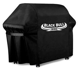 Black Bull BBQ – Housse pour Barbecue [122cm x 61cm x 147cm] – Housse pour Barbecue innovante – Housse pour Barbecue résistante aux intempéries et étanche [100%]
